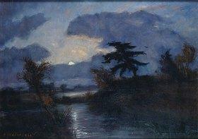 Otto Modersohn: Mondnacht im Teufelsmoor. Um 1900