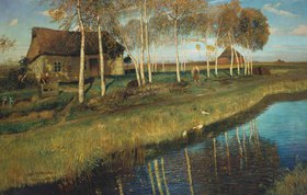 Otto Modersohn: Herbstmorgen am Moorkanal