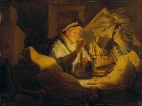 Rembrandt van Rijn: Das Gleichnis vom Reichen (Der Geldwechsler)