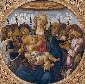 Sandro Botticelli: Maria mit dem Kind und singenden Engeln