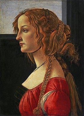 Sandro Botticelli: Profilbildnis einer jungen Frau (Simonetta Vespucci?)