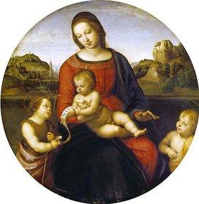 Raffael (Raffaello Sanzio): Maria mit dem Kind und dem kleinen Johannes dem Täufer (Madonna Terranuova)