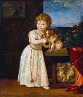 Tizian (Tiziano Vecellio): Clarissa Strozzi im Alter von 2 Jahren