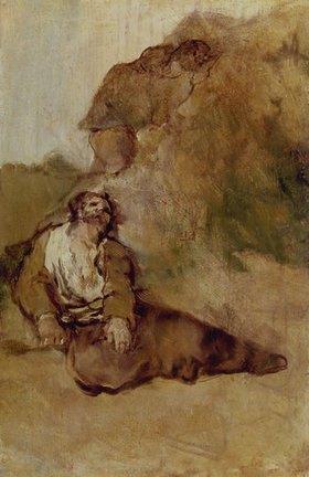 Francisco José de Goya: Der Verwundete. Nach 1920. Skizze