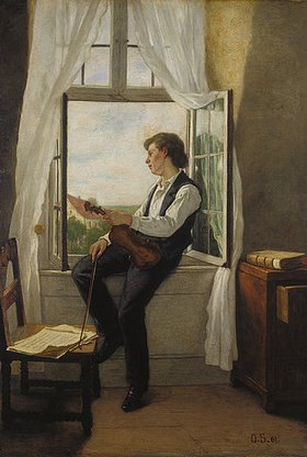 Otto Franz Scholderer: Der Geiger am Fenster