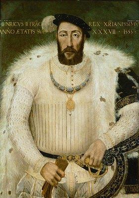 Französisch: Henry II., König von Frankreich (1519-1559) im Alter von 37 Jahren