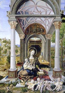Jörg Breu (Preu) d.Ä.: Die Madonna in der Halle. 1512. Linker vorderer Seitenaltar