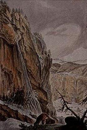 Kaspar Wolf: Der Schildwaldbach bei Lauterbrunnen