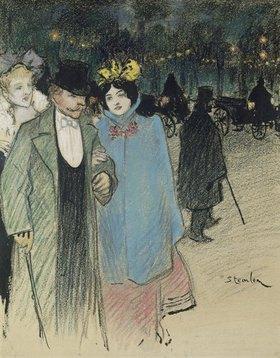 Théophile-Alexander Steinlen: Nach dem Theater