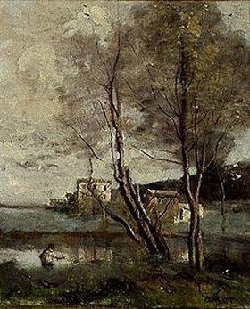 Jean-Baptiste Camille Corot: Angler und Häuser