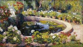 Henri Martin: Brunnen im Blumengarten, Marquayrol