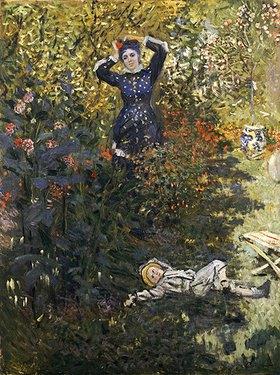 Claude Monet: Camille und Jean Monet im Garten