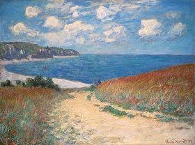 Claude Monet: Strandweg zwischen Weizenfeldern bei Pourville