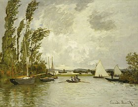 Claude Monet: Auf einem Seitenarm der Seine bei Argenteuil