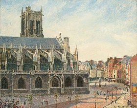 Camille Pissarro: Die Kirche St. Jacques in Dieppe am Morgen