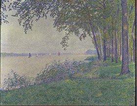 Theo van Rysselberghe: Flußlandschaft mit Segelbooten