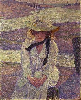 Theo van Rysselberghe: Junge Frau am Ufer des Greve-Flusses