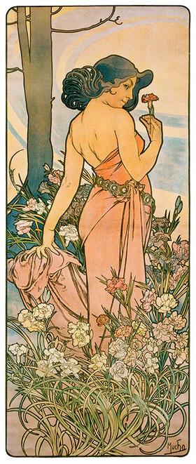 Alfons Mucha: Die Nelke