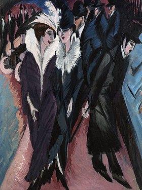 Ernst Ludwig Kirchner: Die Strasse