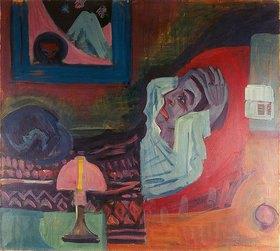 Ernst Ludwig Kirchner: Kranker in der Nacht (Der Kranke). 1920 (1922)