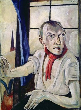 Max Beckmann: Selbstbildnis mit rotem Schal