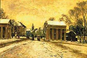 Heinrich Hermanns: Winter am Ratinger Tor