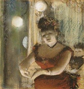 Edgar Degas: Chanteuse im Café. 1878