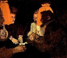 Edouard Vuillard: Beim Kartenspiel (Die Brüder Nathanson und das Ehepaar Blum)