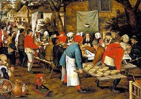 Pieter Brueghel d.Ä.: Bauernmalzeit vor einer Schänke