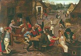 Pieter Brueghel d.J.: Eine Bauernhochzeit