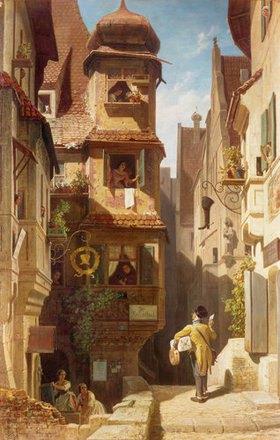 Carl Spitzweg: Der Briefbote im Rosental