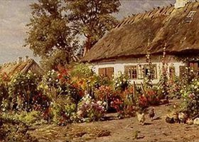 Peder Moensted: Bauerngarten. 1910(?)
