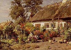 Peder Moensted: Bauerngarten. 1910(?)