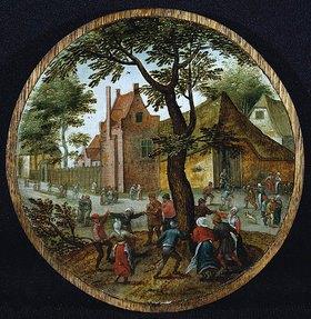 Pieter Brueghel d.J.: Tanzendes Bauernvolk