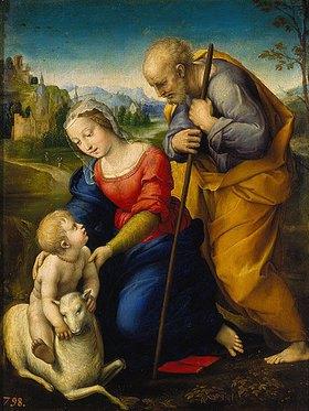 Raffael (Raffaello Sanzio): Die heilige Familie mit dem Lamm