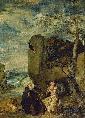 Diego Rodriguez de Velazquez: Die Geschichte des hl.Abtes Antonius und hl.Eremiten Paulus. 1640(?)