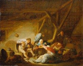 Adriaen van Ostade: Männer und Weiber in einer Bauernstube