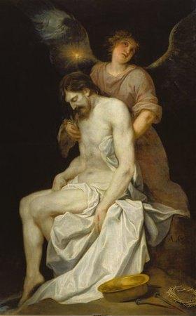 Alonso Cano: Ein Engel stützt den Leichnam Christi