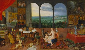 Jan Brueghel d.Ä.: Allegorie des Gehörs. (Ausgeführt mit Peter Paul Rubens)