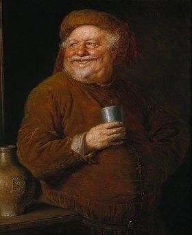 Eduard Grützner: Falstaff mit einem Zinnbecher
