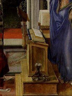 Fra Filippo Lippi: Verkündigung Mariae. Detail: Lesepult (siehe Bildnummer 1232)