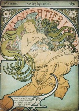 Alfons Mucha: Umschlag für Au Quartier Latin Sonder- nummer