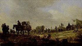 Jan van Goyen: Landschaft mit Gepäckkarren
