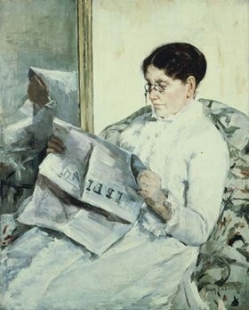 Mary Cassatt: Beim Lesen des Figaro