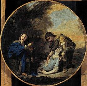 Bernardo Cavallino: Erminia und der verwundete Tancred