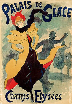 Jules Cheret: Jugendstilplakat Palais de Glace