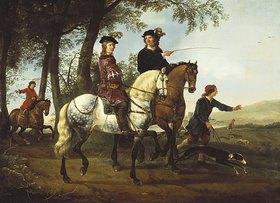 Aelbert Cuyp: Zur Jagd ausreitendes Paar