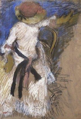 Edgar Degas: Sitzende Dame in weißem Kleid