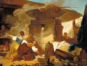 Jean Honoré Fragonard: Wäscherinnen am Brunnen