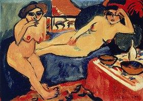 Ernst Ludwig Kirchner: Zwei Akte auf blauem Sofa